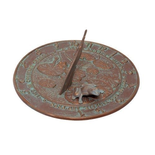 Frog Sundial | Garden Decor | Sundials | Garden House Flags