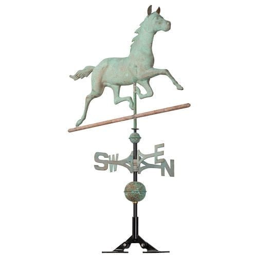 Copper Horse Rooftop Weathervane