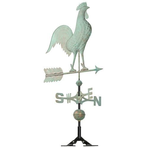 Copper Rooster Weathervane | Weathervanes | Garden House Flags