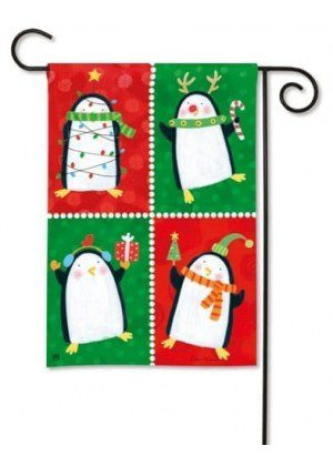 Penguin Pals Garden Flag | Christmas Flags | Holiday Flags | Yard Flags