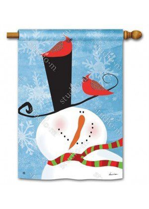 Snowman Whimsy House Flag | Winter Flags | Snowman Flags | Yard Flag