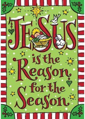 Jesus Season Flag | Christmas Flags | Two-sided Flags | Holiday Flags