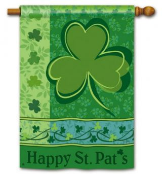 Happy St. Pat House Flag | St. Patrick's Day Flags | Yard Flags | Cool Flag