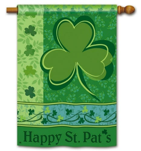 Happy St. Pat's House Flag