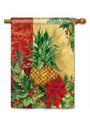 Christmas Pineapple House Flag | Christmas Flags | Yard Flags | Flags