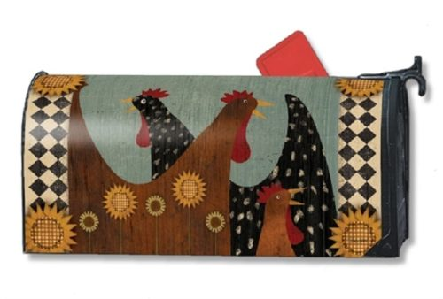 Morning Chatter Mailbox Cover | Decorative Mailwrap | Garden House Flag