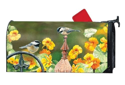 Chickadee Fence Post Mailwraps Mailbox Cover