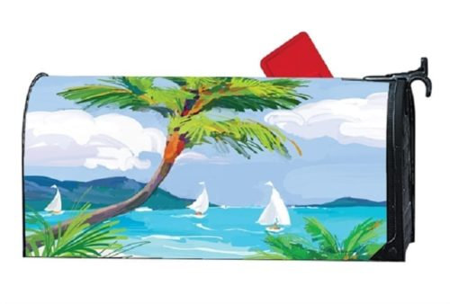Tropical Palm Tree Mailwraps Mailbox Cover