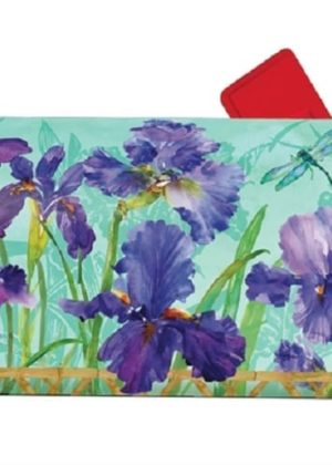 Purple Iris Mailbox Cover | Mailwrap | Mailbox Cover | Garden House Flags