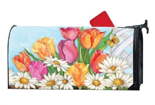 Fresh Tulips Mailwraps Mailbox Cover