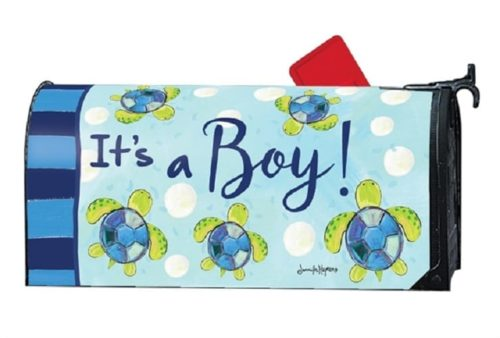 Sea Turtle - It's a Boy! Mailwraps Mailbox Cover