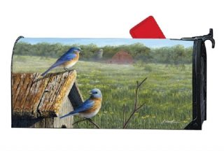 Summer Bluebirds Mailbox Cover | Decorative Mailwraps | Mailbox Covers