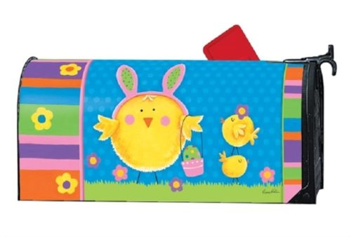 Easter Chicks Mailbox Cover | Decorative Mailwraps | Garden House Flags