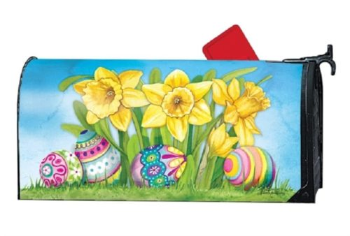 Easter Daffodils Mailbox Cover | Decorative Mailwrap | Garden House Flag
