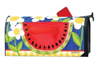 Summer Watermelon Mailbox Cover | Decorative Mailwrap | Mailbox Cover