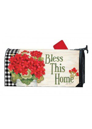 Geranium Blooms Mailbox Cover | Decorative Mailwraps | Mailbox Covers