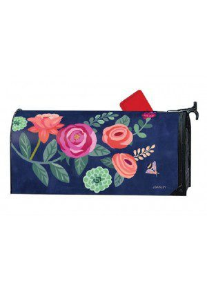 Boho Flowers Mailbox Cover | Decorative Mailwraps | Mailbox Covers