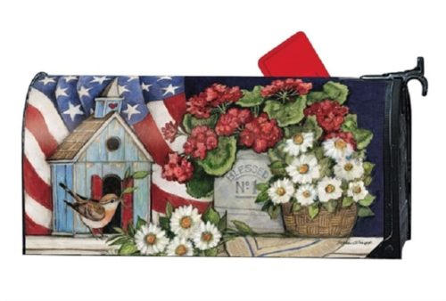 Patriotic Birdhouse Mailbox Cover | Mailwraps | Garden House Flags