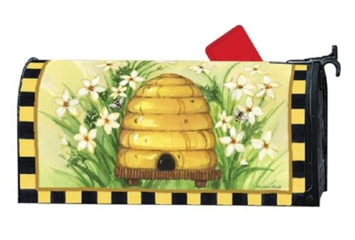 Bee Skep Mailbox Cover | Decorative Mailwraps | Garden House Flags