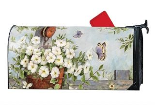 Petunias on Pulley Mailbox Cover | Decorative Mailwraps | Mailbox Covers