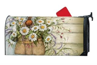 Fresh Picked Daisies Mailbox Cover | Decorative Mailwrap | Mailbox Cover