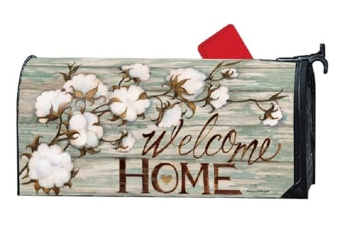 Cotton Bolls Mailbox Cover | Decorative Mailwraps | Garden House Flags