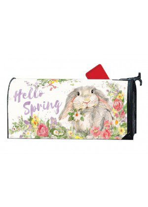 Hello Bunny Mailbox Cover | Decorative Mailwraps | Mailbox Covers