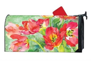 Red Tulips Mailbox Cover   Decorative Mailwraps   Mailbox Covers