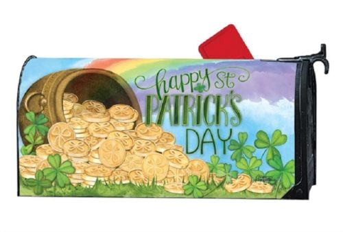 Pot of Gold Mailbox Cover | Mailwrap | Mailbox Cover | Garden House Flag