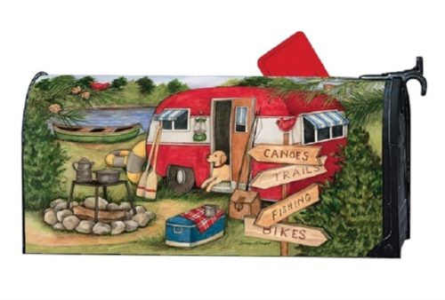 Camping Weekend Mailbox Cover | Mailwrap | Garden House Flags