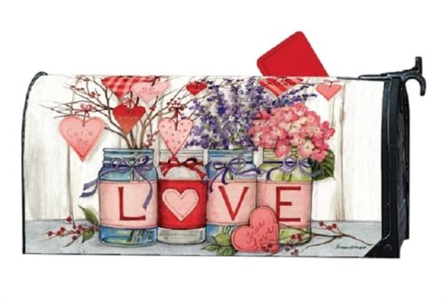Filled With Love Mailbox Cover | Mailwraps | Garden House Flags