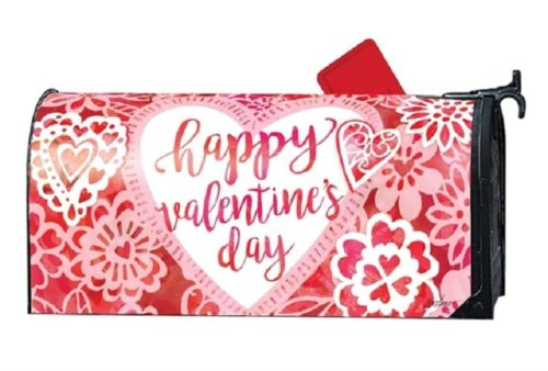 Valentine Lace Mailbox Cover | Decorative Mailwrap | Garden House Flags