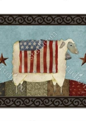 Freedom Sheep Doormat | Doormats | MatMates | Garden House Flags