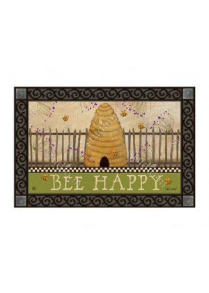 Bee Happy Doormat | Doormats | MatMates | Mats | Decorative Doormats