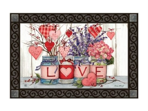 Filled With Love Doormat | Doormats | MatMates | Garden House Flags