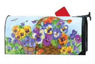 Pansy Lane Mailbox Cover | Decorative Mailwraps | Mailbox Covers