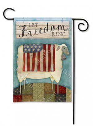 Freedom Sheep Garden Flag | Patriotic Flags | 4th of July Flags | Cool Flag