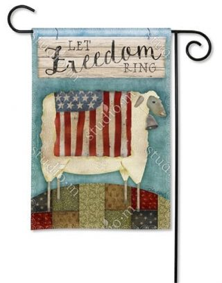 Freedom Sheep Garden Flag   Patriotic Flags   4th of July Flags   Cool Flag