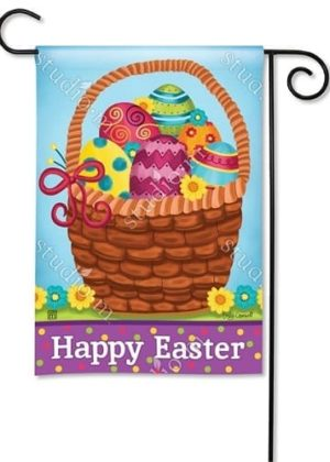 Basket of Eggs Garden Flag | Easter Flags | Holiday Flags | Cool Flags