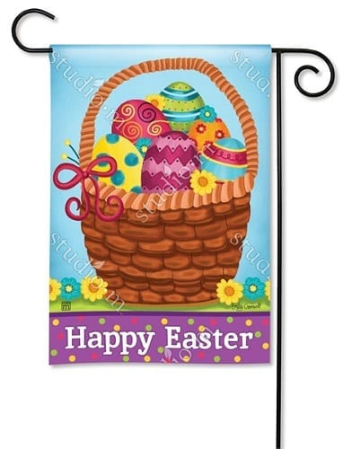 Basket Full of Eggs Garden Flag | Easter Flag | Garden Flags | Garden House Flags