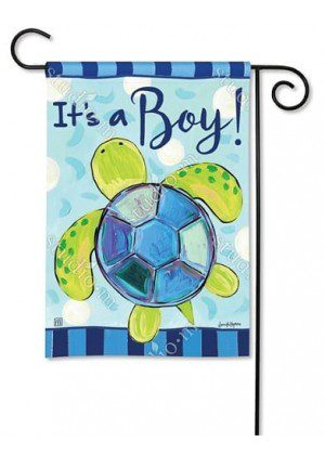 Sea Turtle - It's a Boy! Garden Flag | Celebration Flags | Yard Flags | Flags