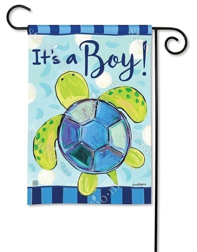 Sea Turtle - It's a Boy! Garden Flag | Decorative Garden Flag | Garden House Flags