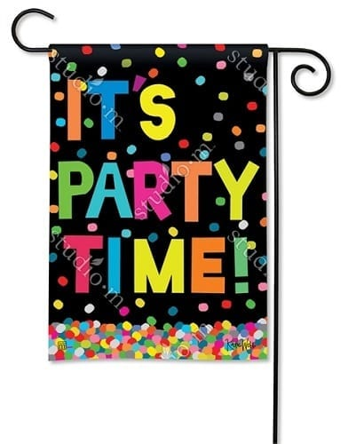 It Is Party Time Flag | House Flags | Garden Flags | Garden House Flags