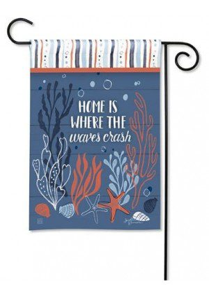 Waves Crash Garden Flag | Nautical Flags | Summer Flags | Yard Flags