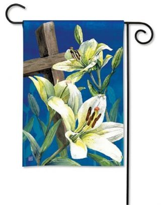 Easter Lilies Garden Flag | Easter Flags | Cool Flags | Inspirational Flags