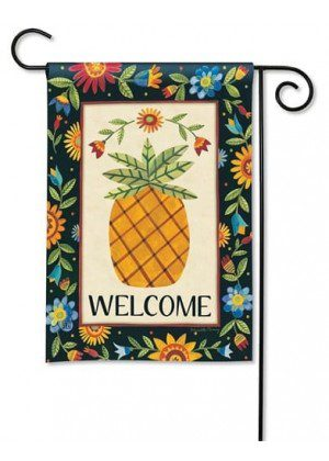 Floral Pineapple Garden Flag | Welcome Flags | Spring Flags | Cool Flags