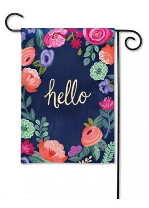 Boho Flowers Garden Flag | Welcome Flags | Floral Flags | Garden Flags