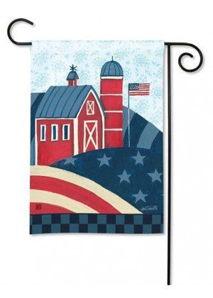 American Barn Garden Flag | Patriotic Flags | 4th of July Flags | Cool Flags