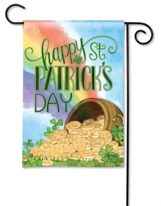 Pot of Gold Garden Flag | St. Patrick's Day Flags | Holiday Flag | Yard Flag