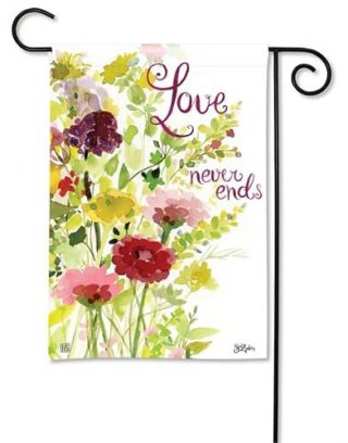 Love Never Ends Garden Flag | Valentine's Day Flags | Yard Flags
